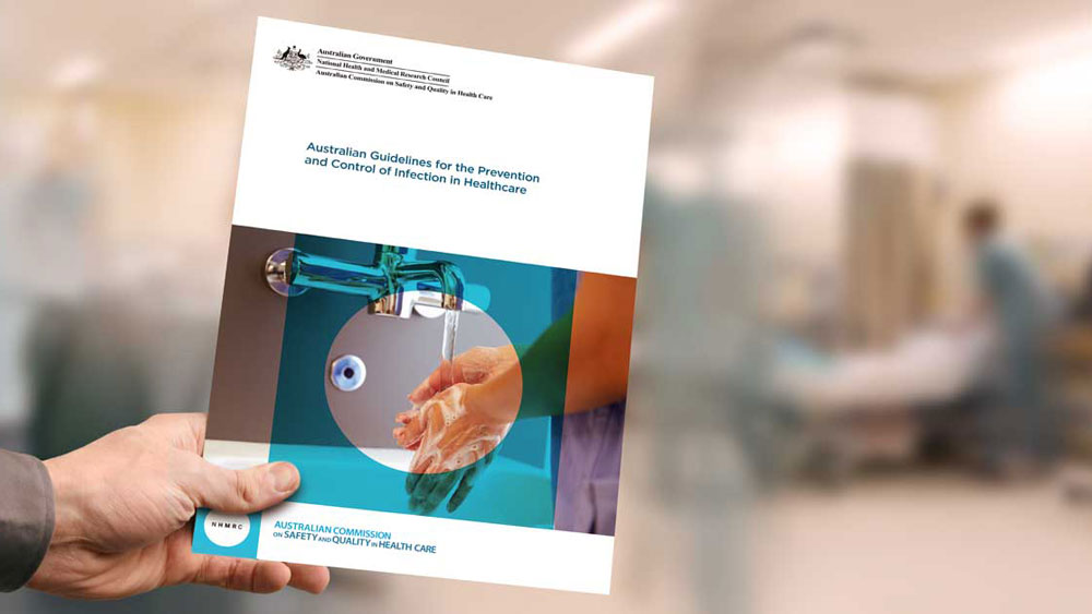 Cover of Australian Guidelines for the Prevention and Control of Infection in Healthcare