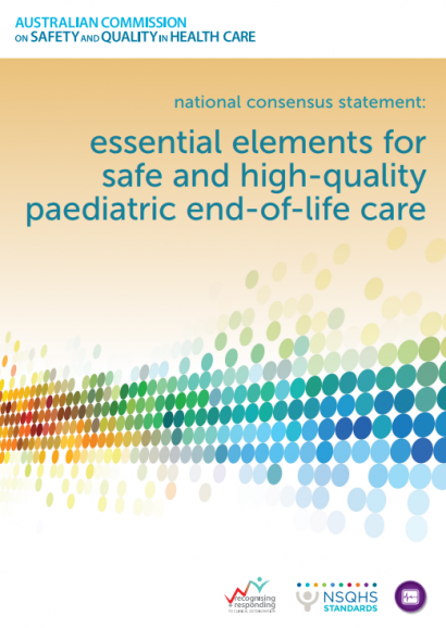 paediatric end-of-life care consensus statement Front cover