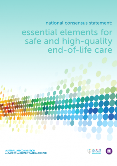 Front cover End-of-life care - National Consensus Statement - Adults