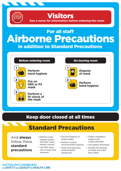 Approach 2 - Airborne standard precautions icon