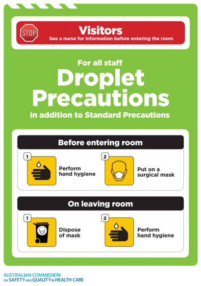 Approach 4 - Droplet precautions icon