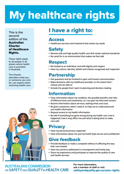 Charter Healthcare Rights - A4 - accessible
