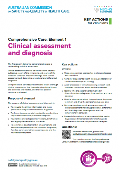 Comprehensive-Care-EE1-Actions for Clinicians-cover