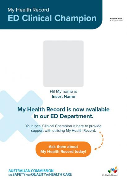 My Health Record in ED Champions poster thumbnail