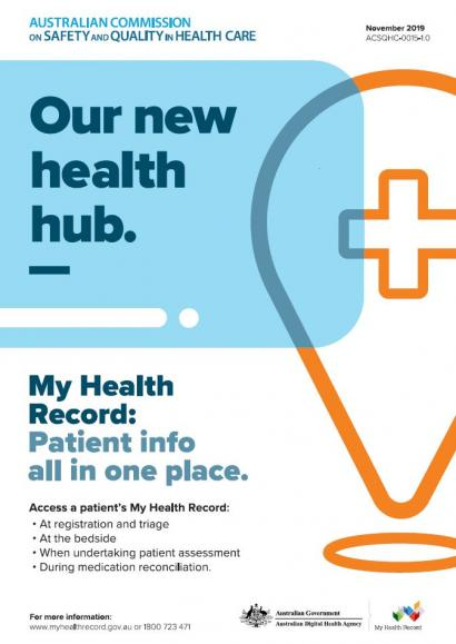 My Health Record poster - Our new health hub