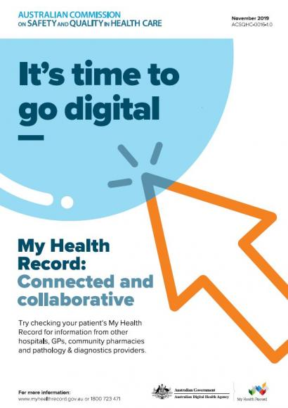 My Health Record poster - It's time to go digital
