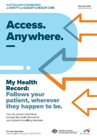My Health Record poster - Access Anywhere