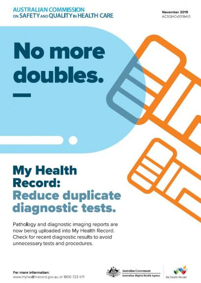 My Health Record poster - No more doubles