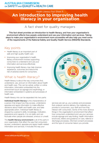 PWC_Health_literacy_introductory_factsheet