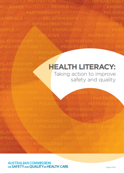 taking action health literacy front cover PWC