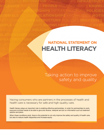 National statement on health literacy pwc
