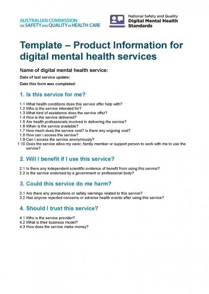 Product information for digital mental health services thumbnail