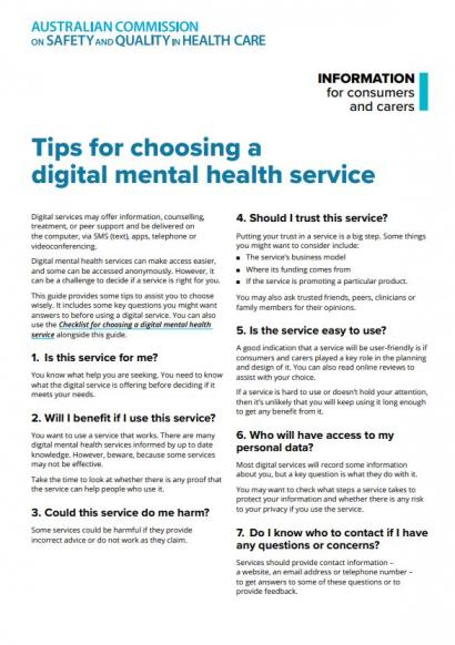 Tips for choosing a digital mental health service - thumbnail